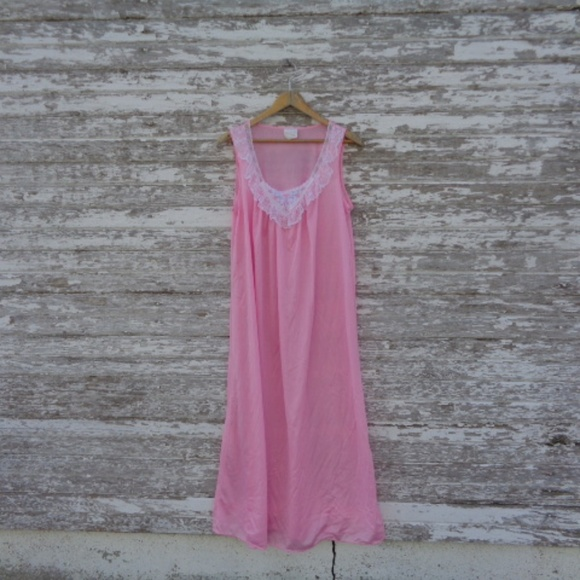 Other - [Stardust] Vintage Night Gown Pink Size Large